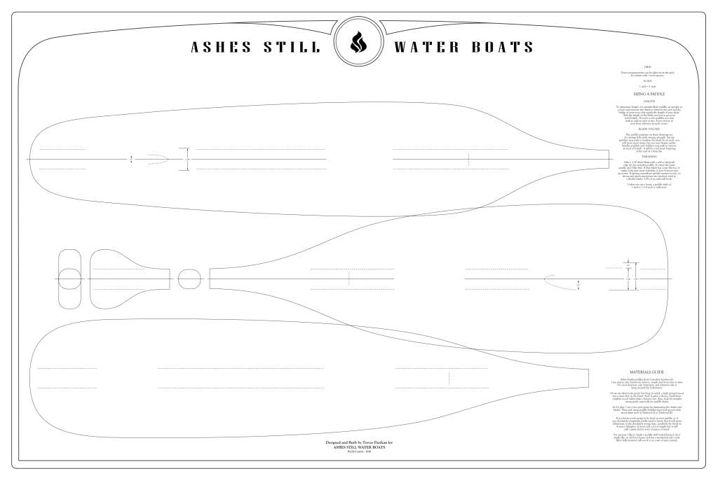Paddle Templates | Ashes | Still Water Boats