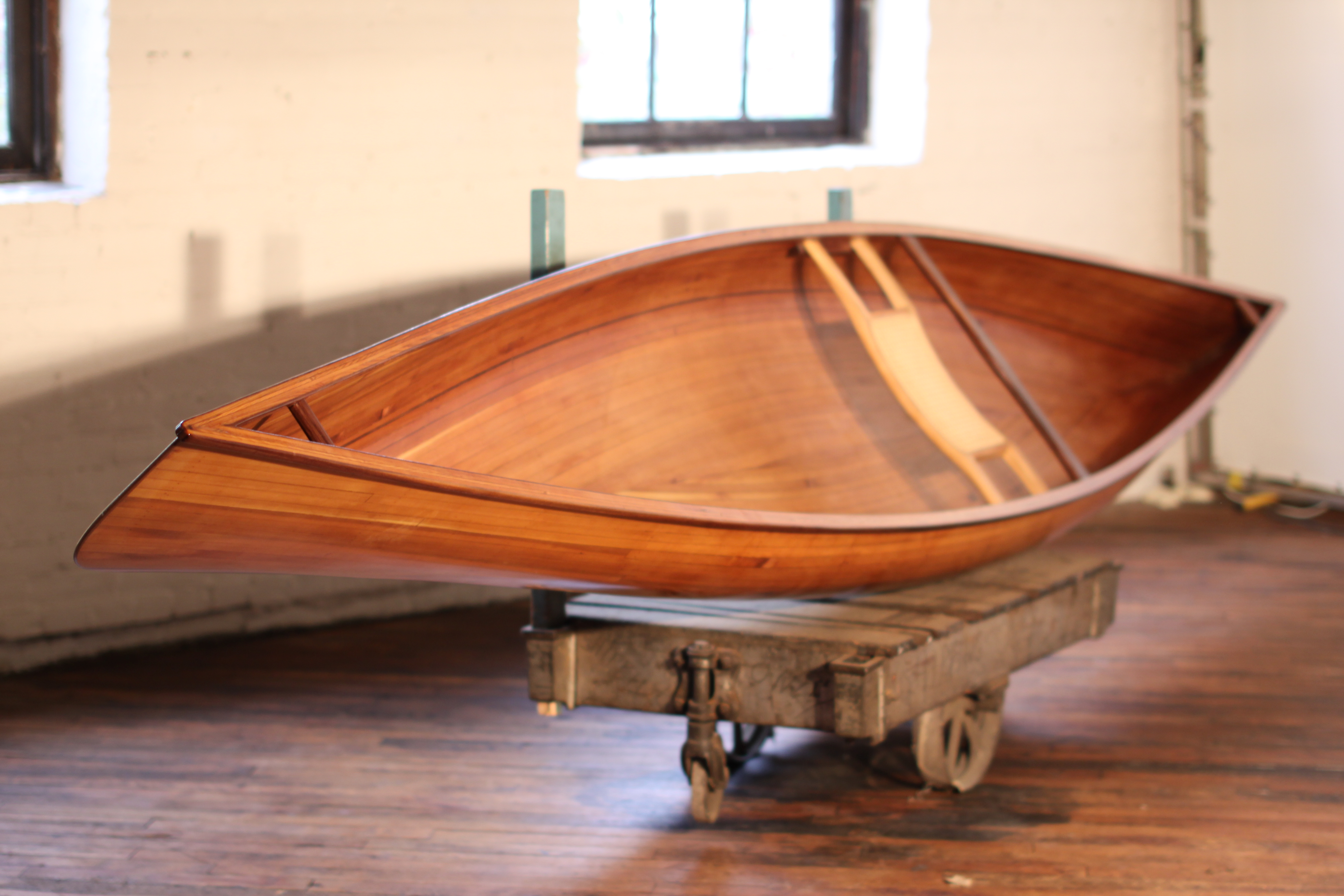 Cedar Strip Canoe – Ashes Still Water Boats