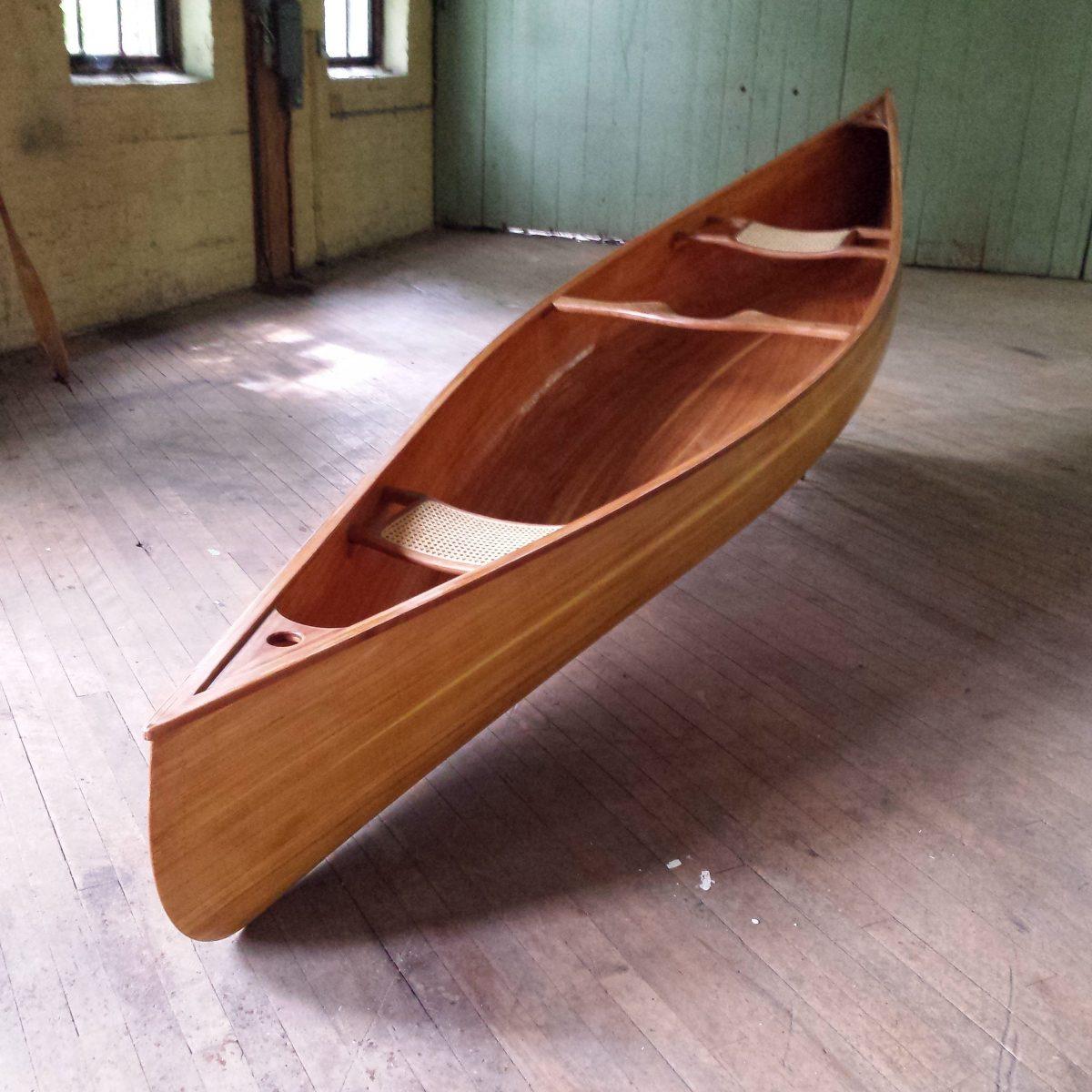 Cedar Strip Canoe from Ashes Still Water Boats