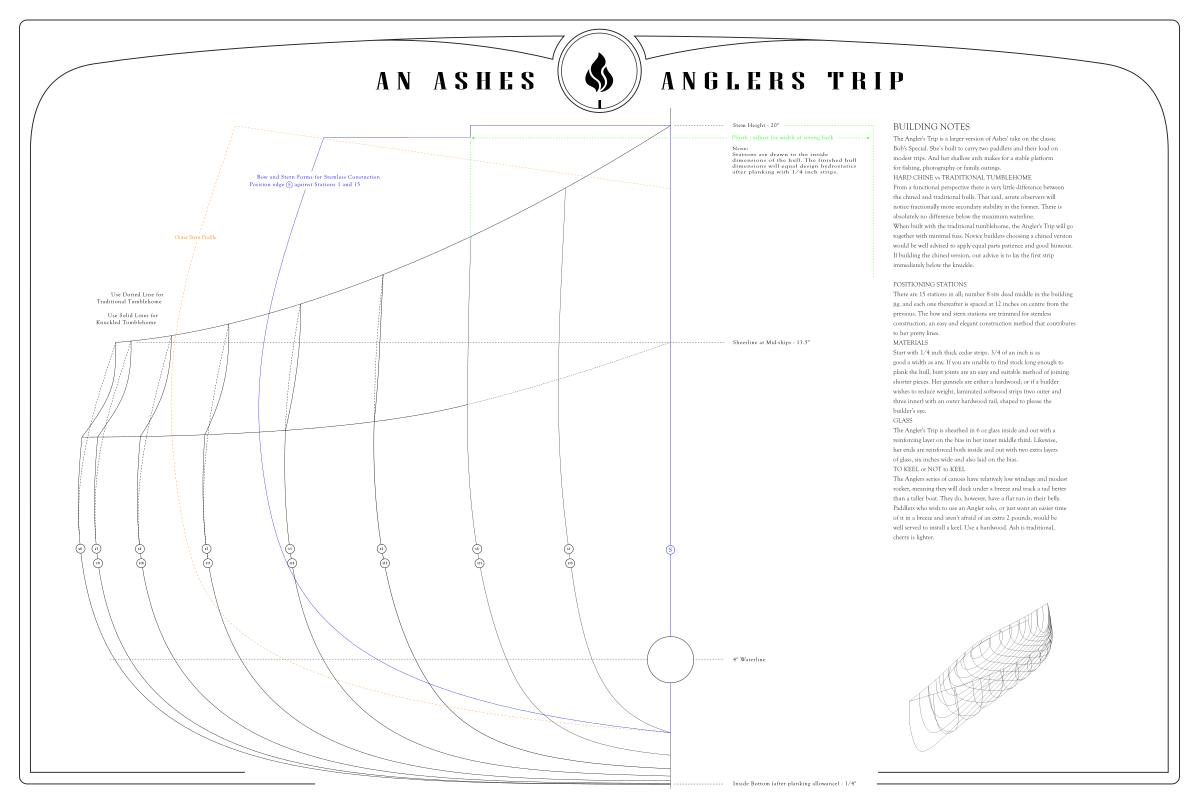 Ashes Anglers Trip – Lines Plan – 1200 x 800