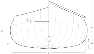 Solo Quick – Canoe Plans – Line Drawing – Body Plan