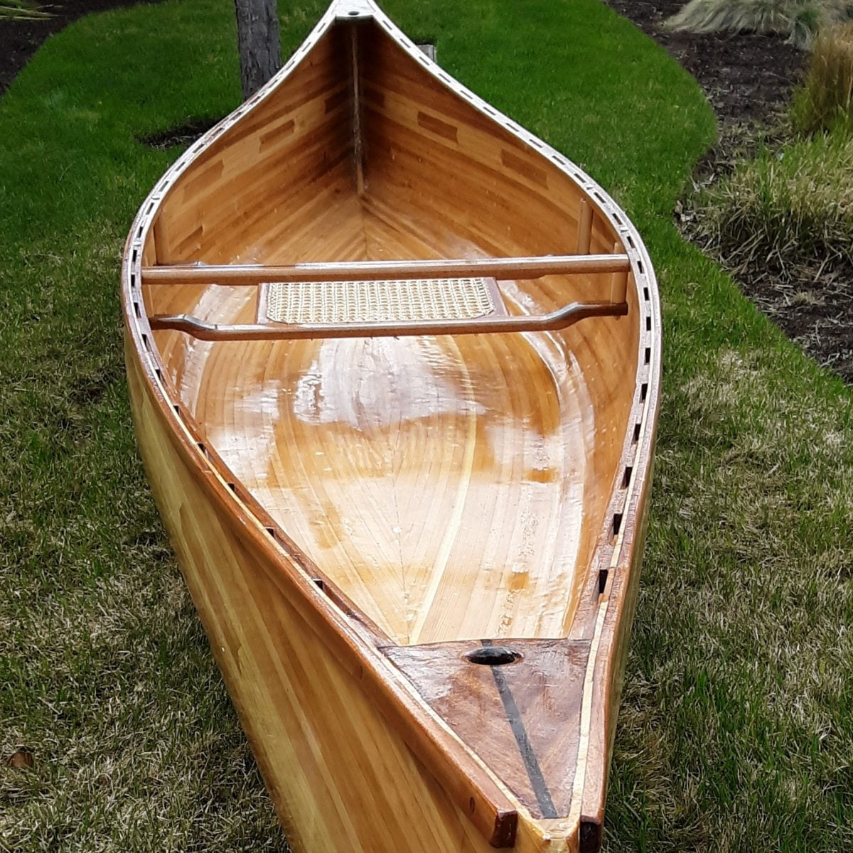 Anglers Pack – A 13 Foot Cedar Strip Canoe – Built by Glenn Town