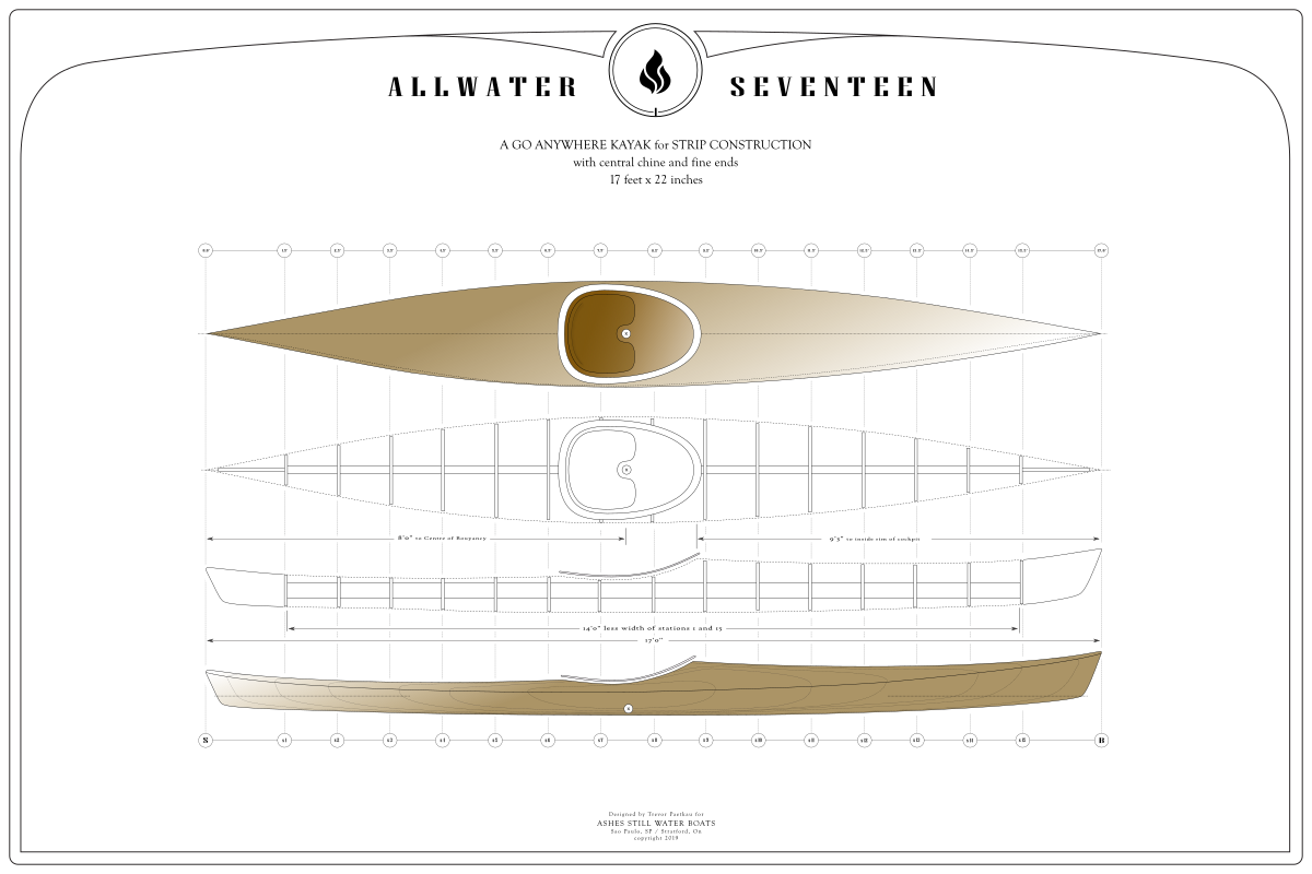 Plans for a 17' Cedar Strip Kayak