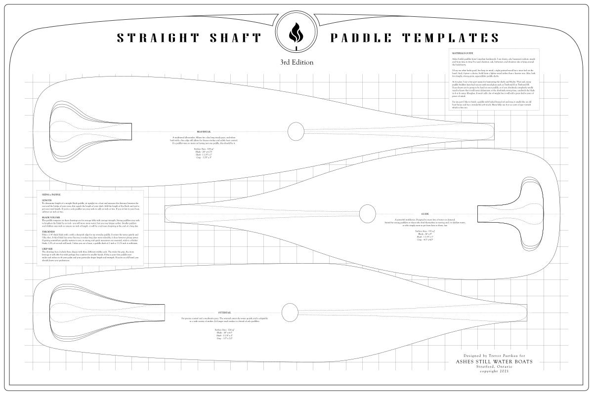 Canoe Paddle Templates